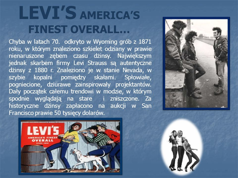 LEVI'S AMERICA'S FINEST OVERALL…