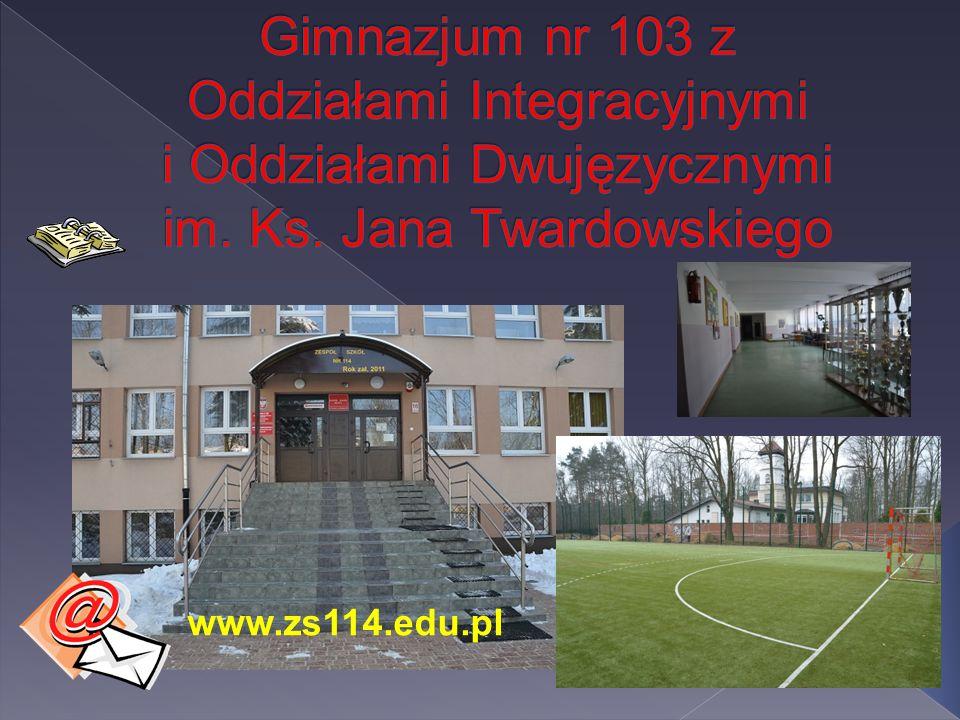 Gimnazjum nr 103 z Oddziałami Integracyjnymi i Oddziałami Dwujęzycznymi im. Ks. Jana Twardowskiego