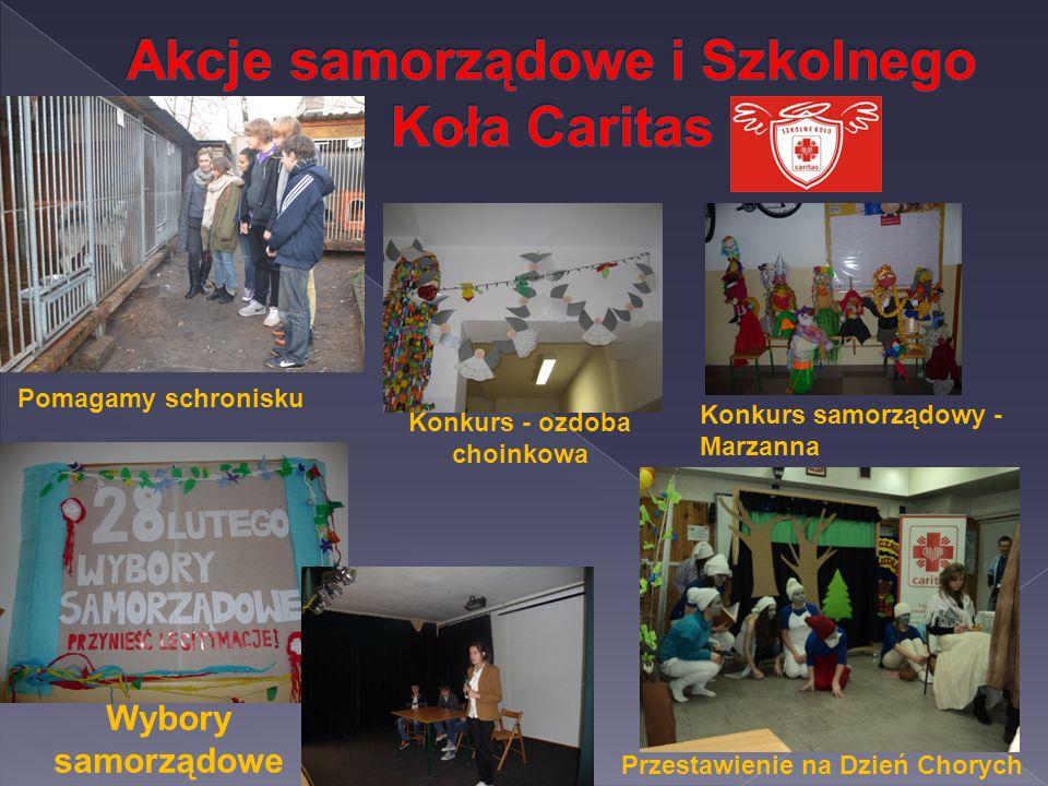 Akcje samorządowe i Szkolnego Koła Caritas