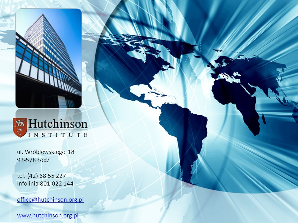 Infolinia 801 022 144 office@hutchinson.org.pl