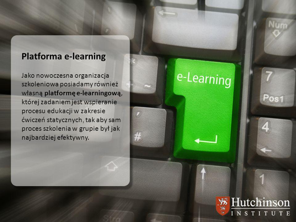 Platforma e-learning Jako nowoczesna organizacja szkoleniowa posiadamy również własną platformę e-learningową,