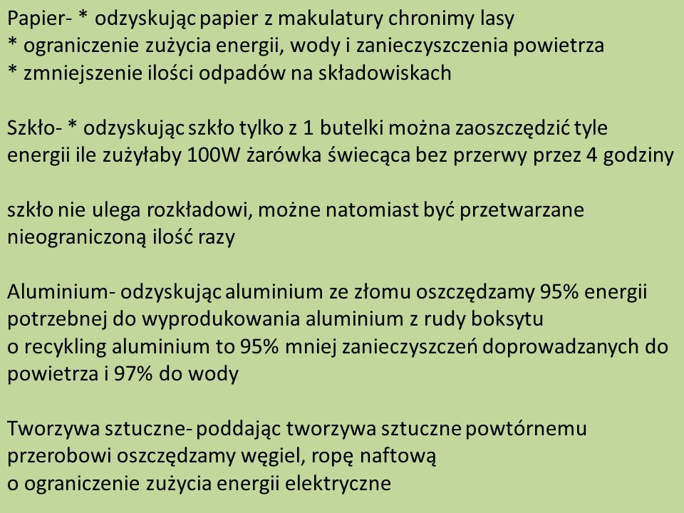 Papier-. odzyskując papier z makulatury chronimy lasy