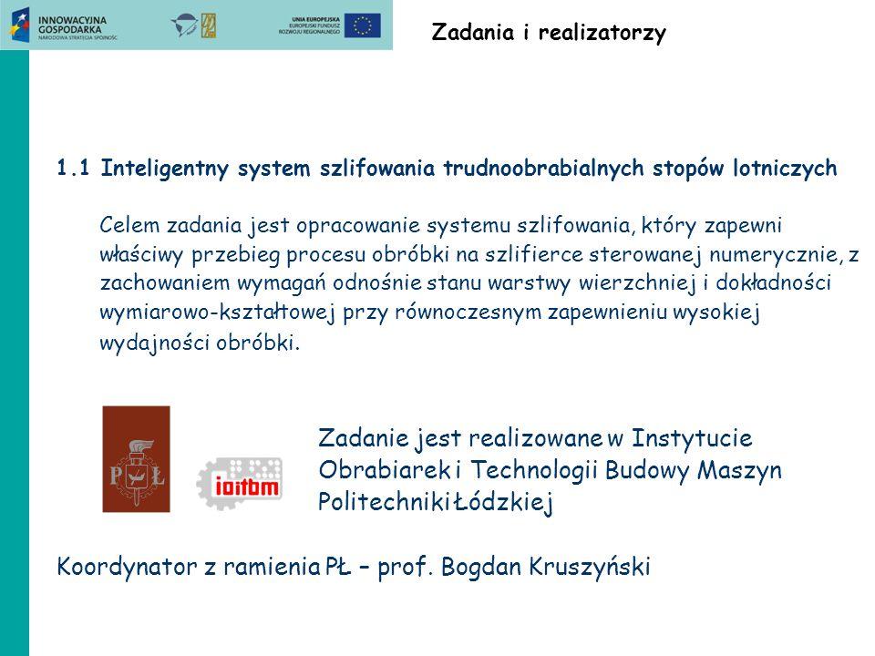 Koordynator z ramienia PŁ – prof. Bogdan Kruszyński