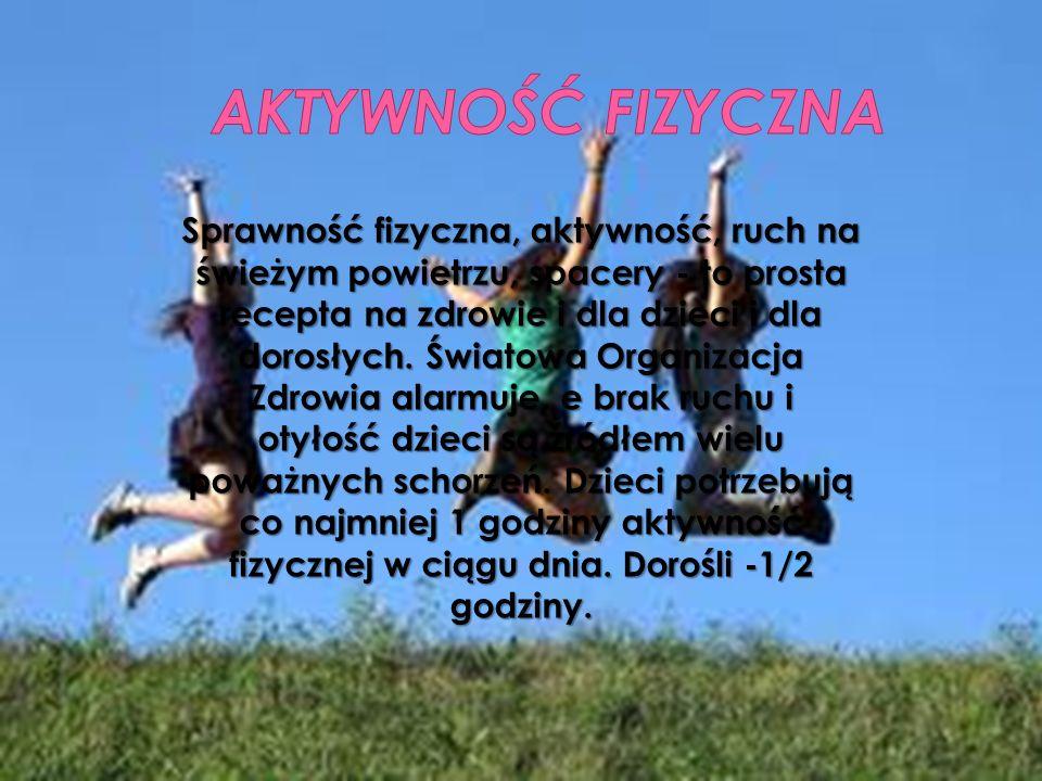 AKTYWNOŚĆ FIZYCZNA Sprawność fizyczna, aktywność, ruch na