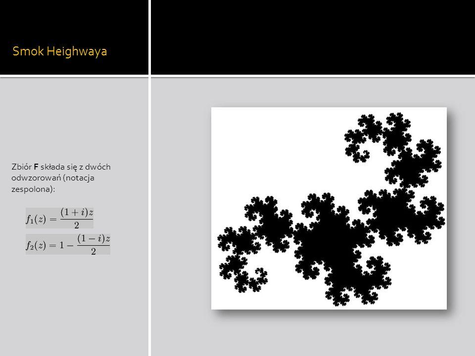 Smok Heighwaya Zbiór F składa się z dwóch odwzorowań (notacja zespolona):