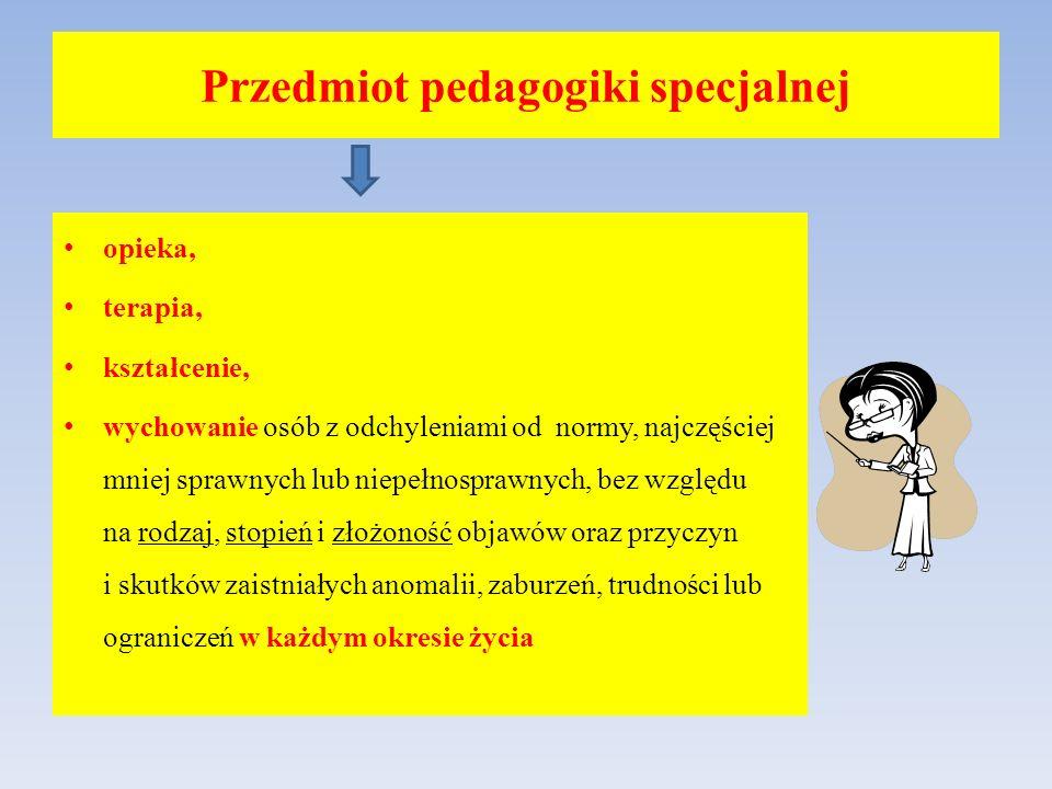 Przedmiot pedagogiki specjalnej