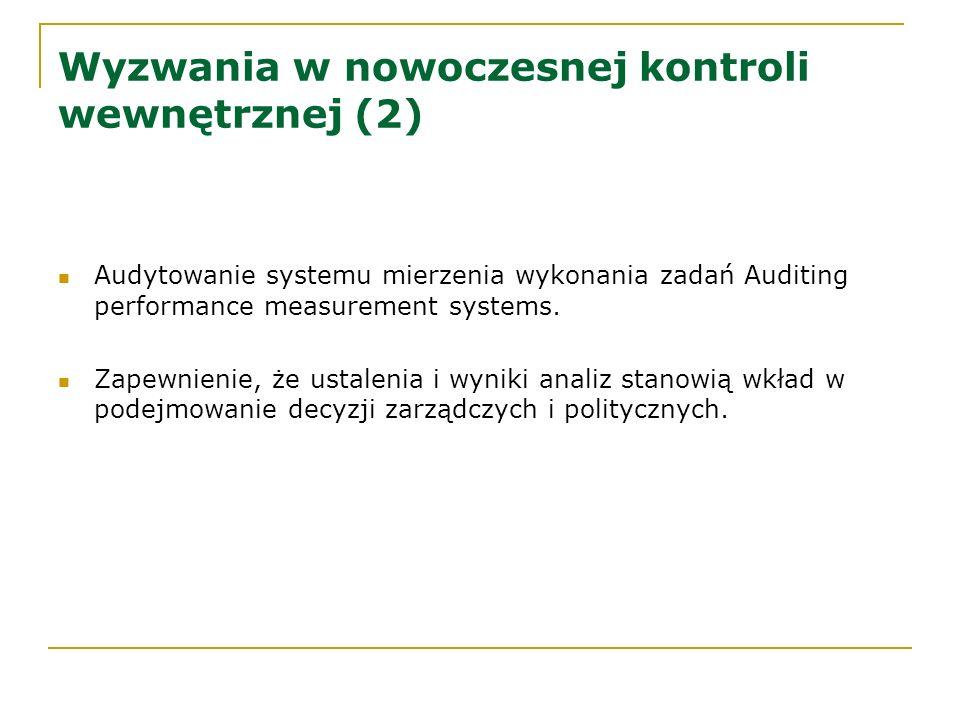 Wyzwania w nowoczesnej kontroli wewnętrznej (2)