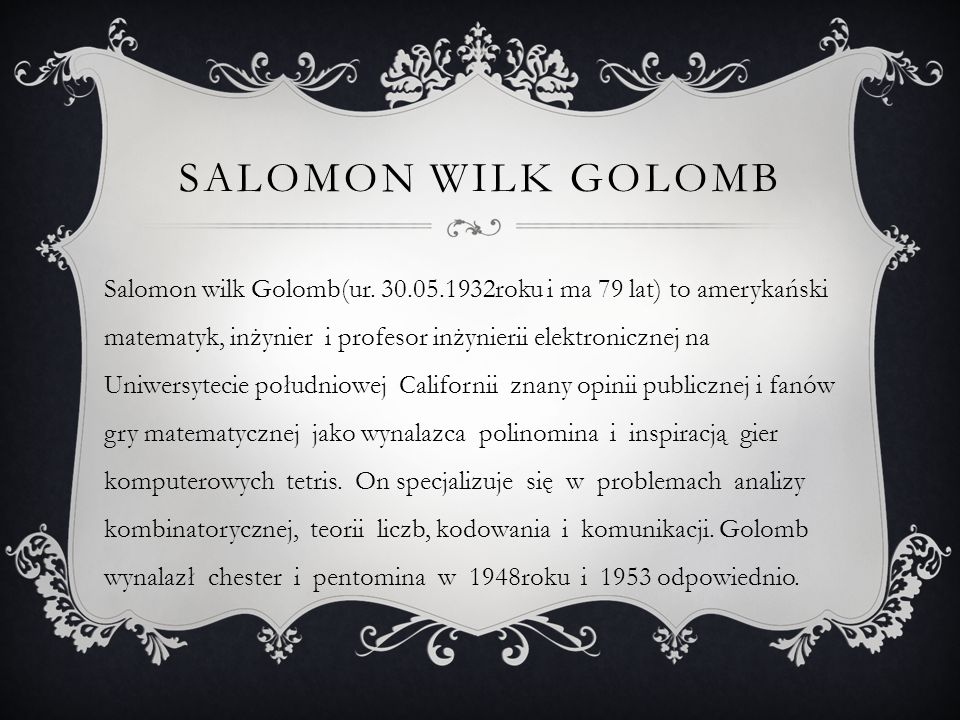 Salomon wilk golomb