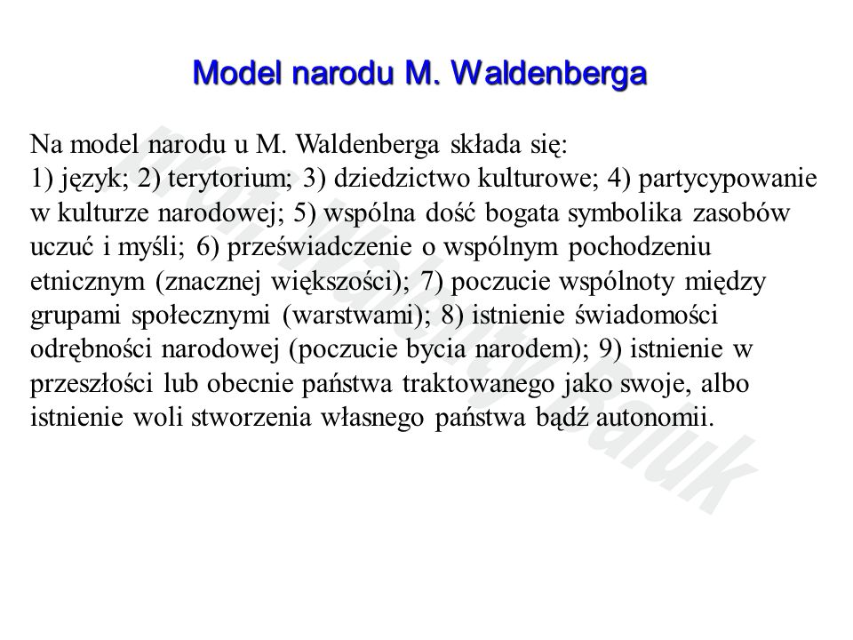 Model narodu M. Waldenberga
