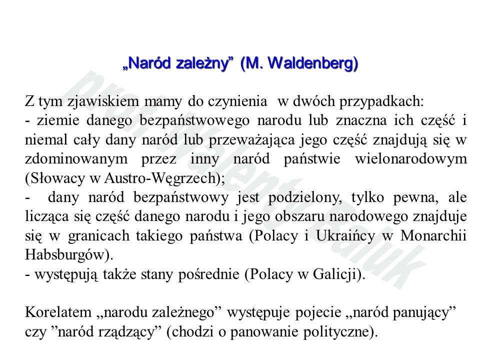 """Naród zależny (M. Waldenberg)"