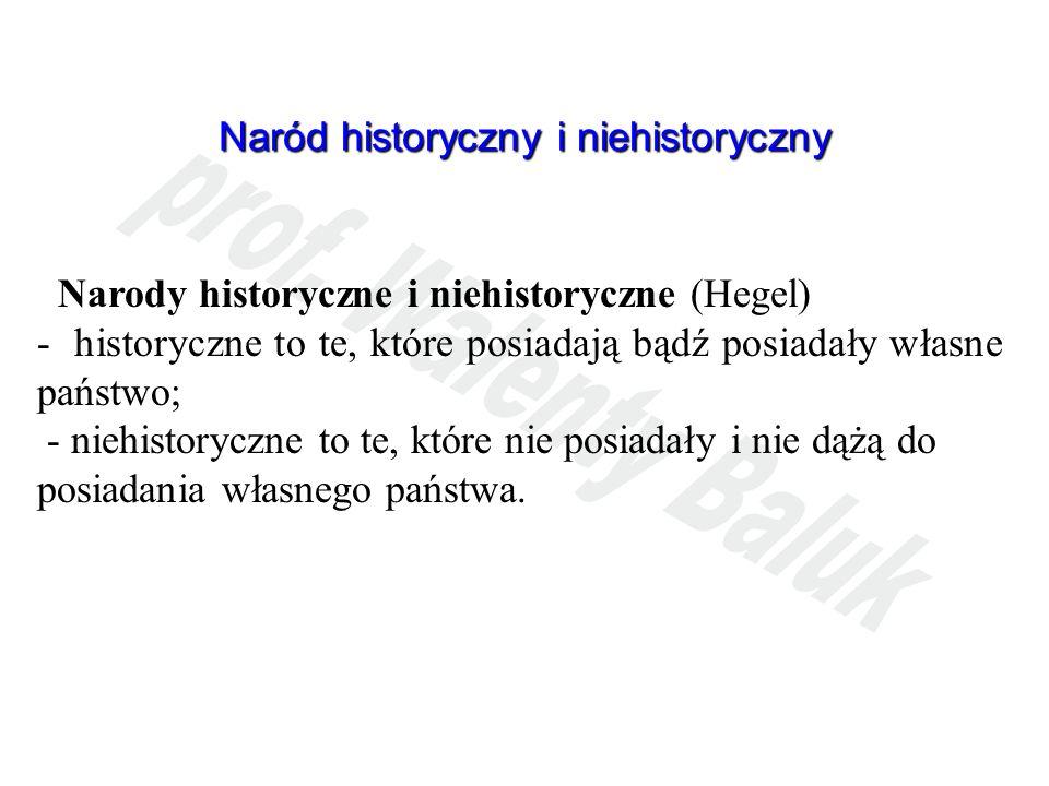 Naród historyczny i niehistoryczny