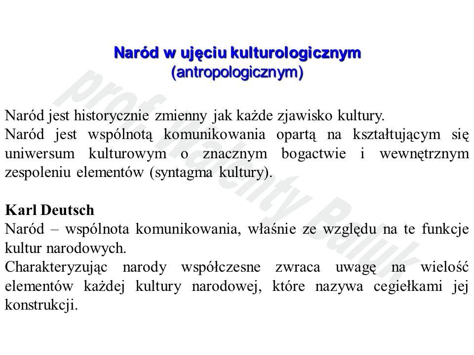 Naród w ujęciu kulturologicznym (antropologicznym)