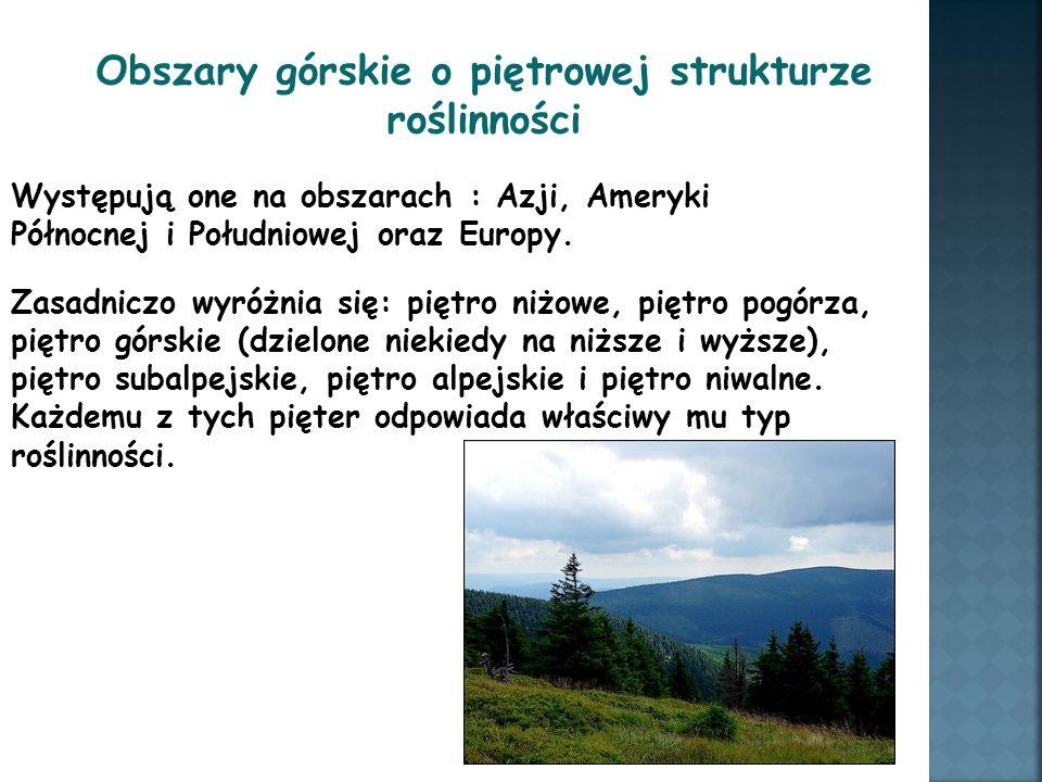 Obszary górskie o piętrowej strukturze roślinności