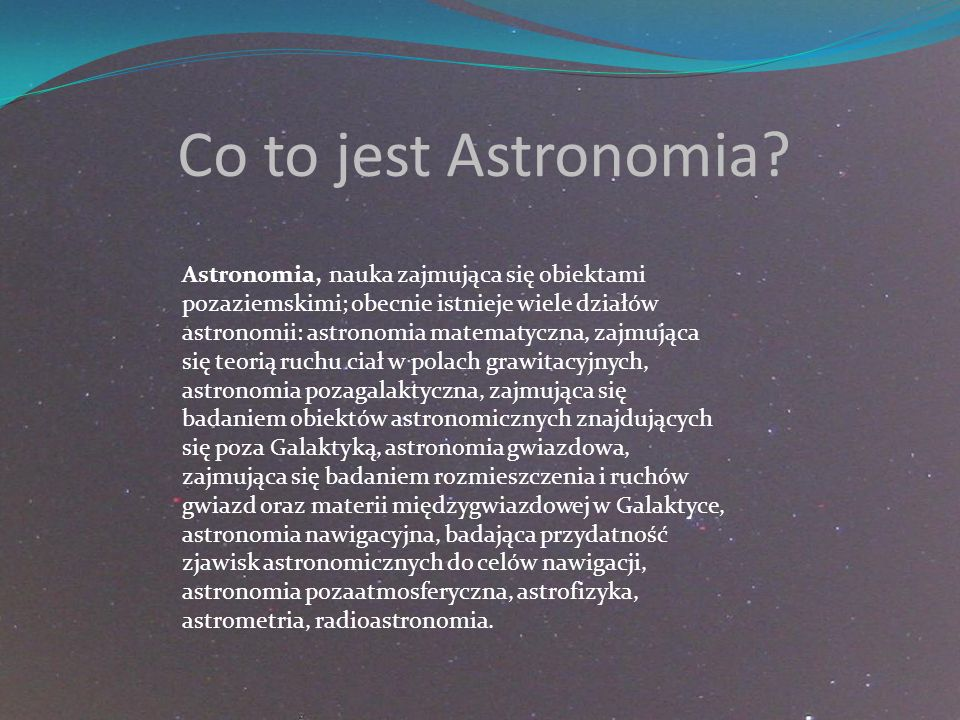 Co to jest Astronomia