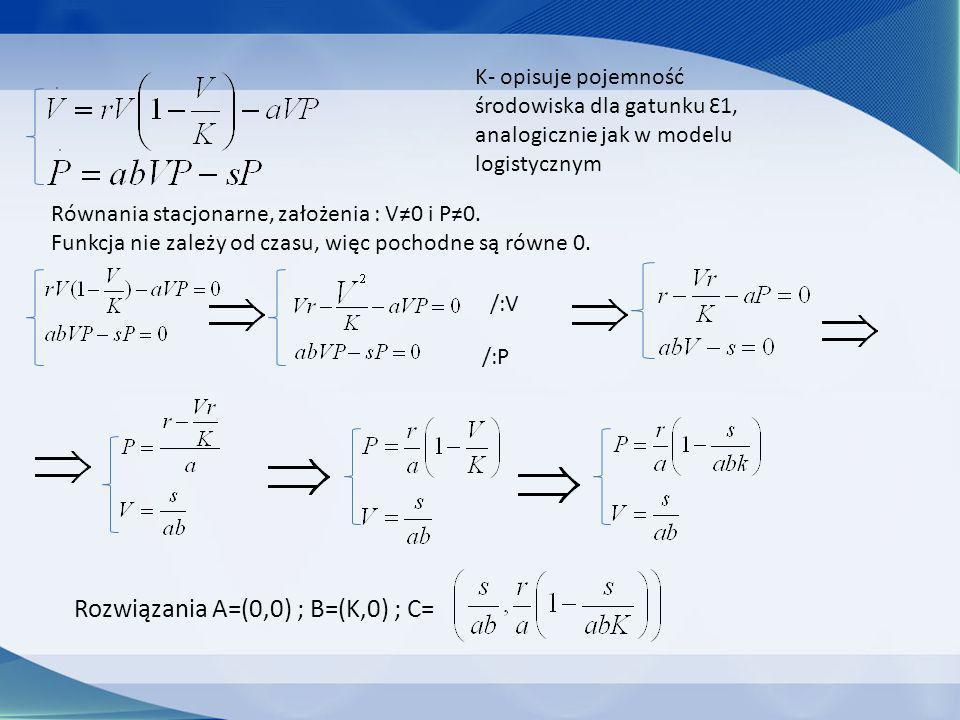 Rozwiązania A=(0,0) ; B=(K,0) ; C=