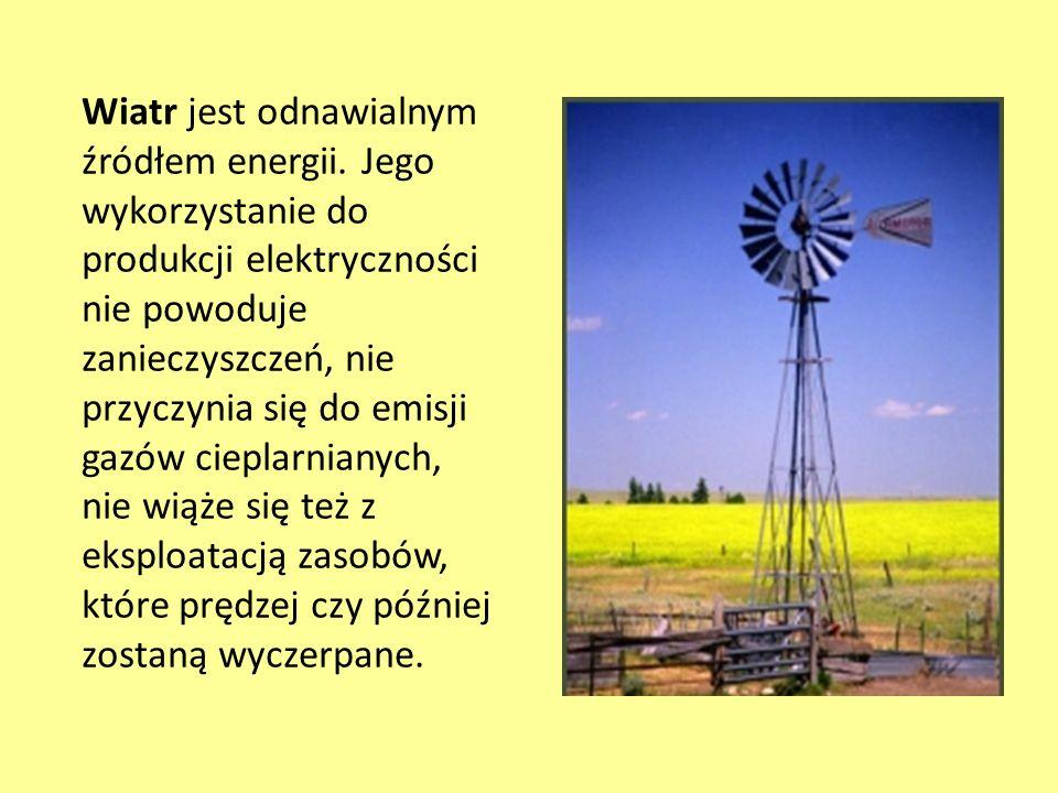 Wiatr jest odnawialnym źródłem energii