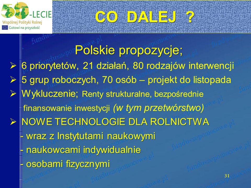 CO DALEJ Polskie propozycje;