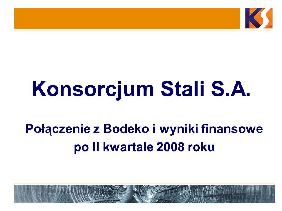 Połączenie z Bodeko i wyniki finansowe po II kwartale 2008 roku