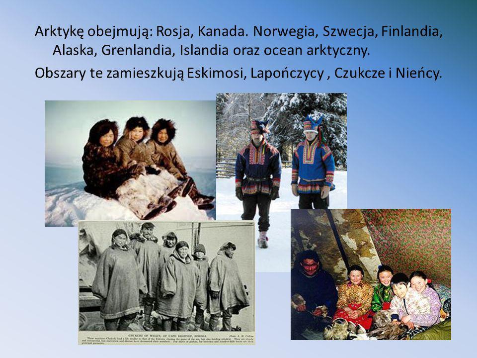 Arktykę obejmują: Rosja, Kanada