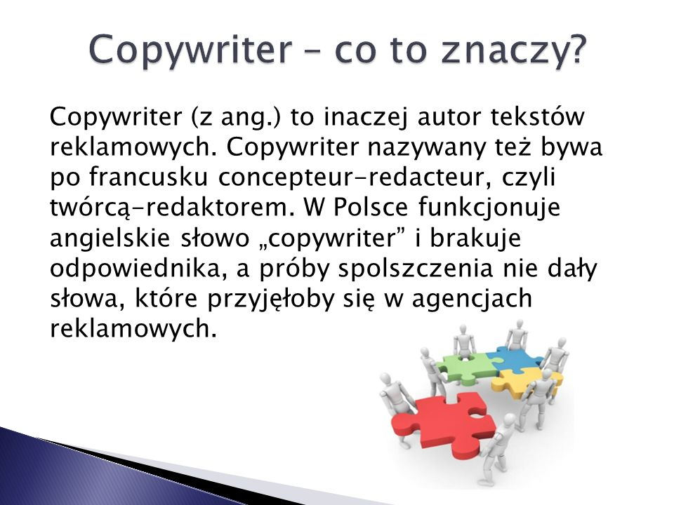 Copywriter – co to znaczy