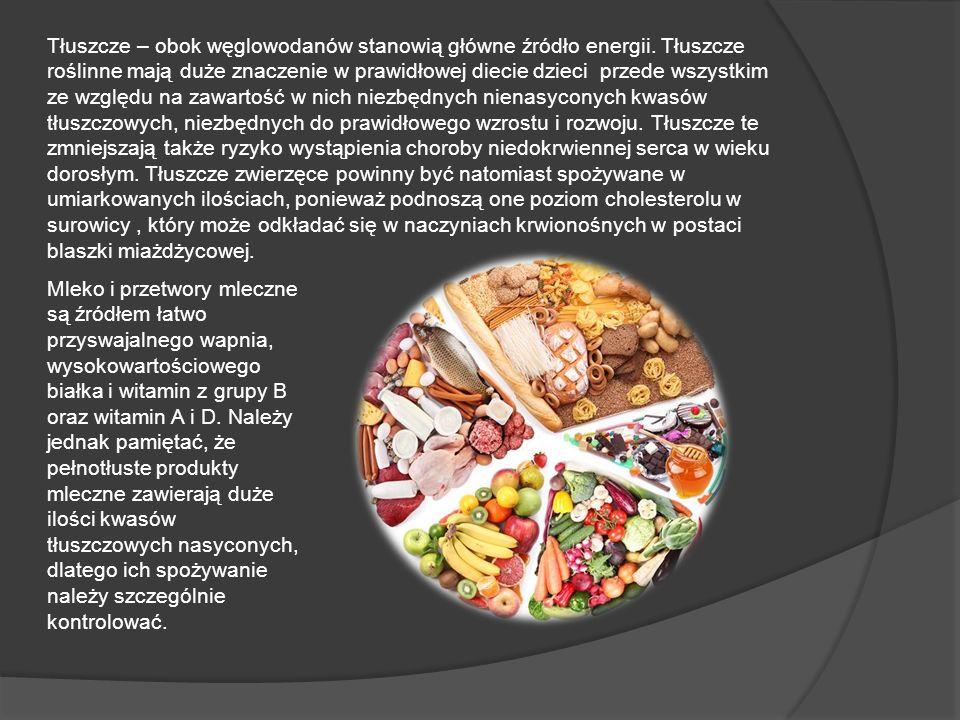 Tłuszcze – obok węglowodanów stanowią główne źródło energii
