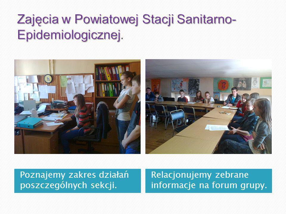 Zajęcia w Powiatowej Stacji Sanitarno-Epidemiologicznej.