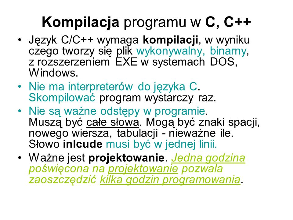 Kompilacja programu w C, C++