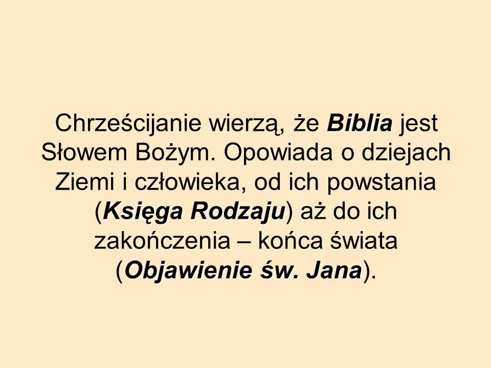 Chrześcijanie wierzą, że Biblia jest Słowem Bożym