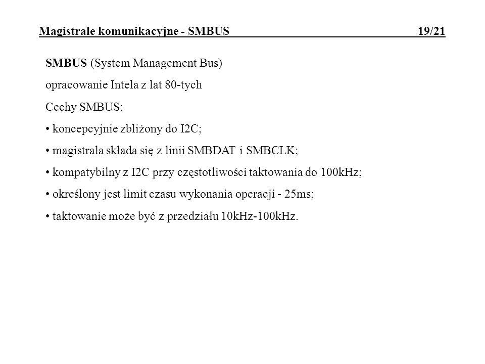 Magistrale komunikacyjne - SMBUS 19/21