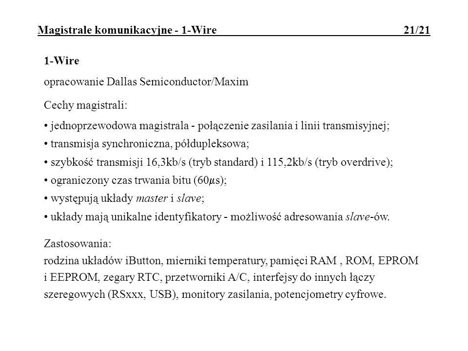 Magistrale komunikacyjne - 1-Wire 21/21