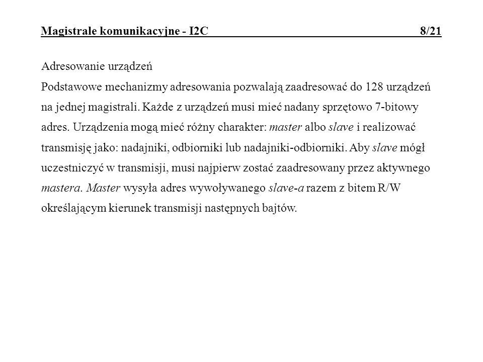 Magistrale komunikacyjne - I2C 8/21