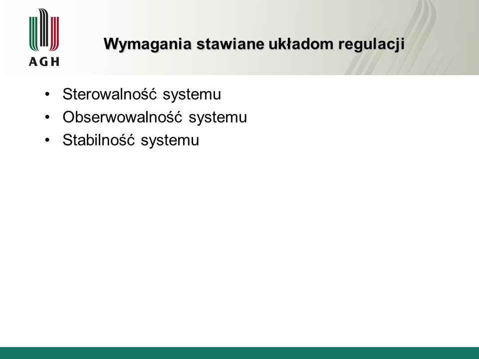 Wymagania stawiane układom regulacji