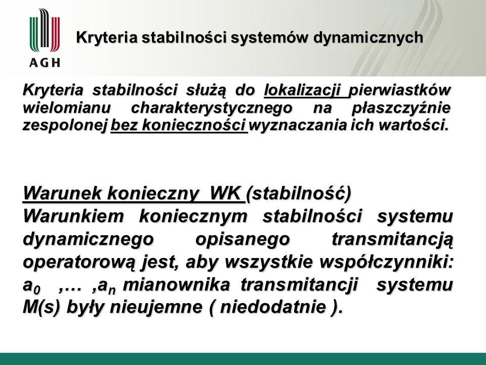 Kryteria stabilności systemów dynamicznych