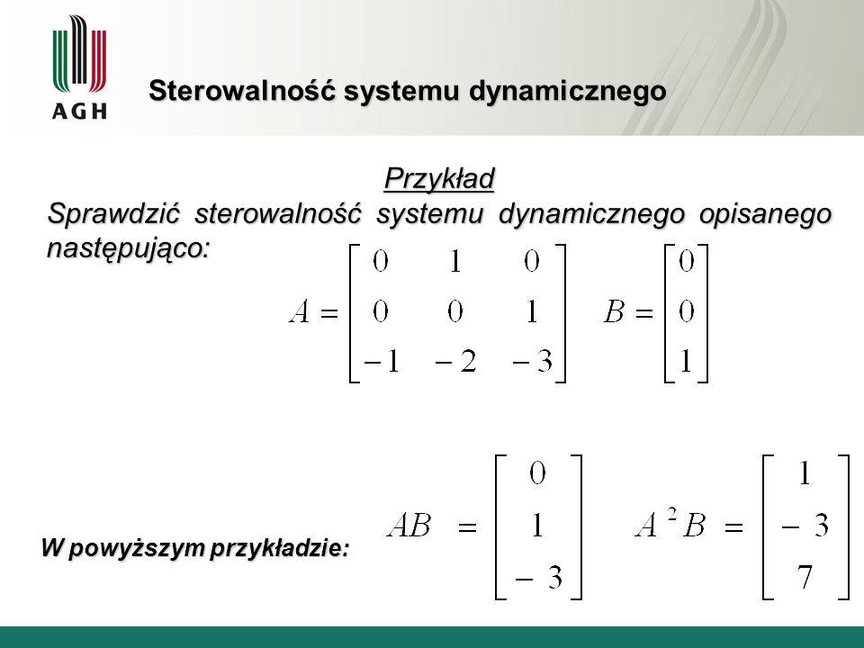 Sterowalność systemu dynamicznego