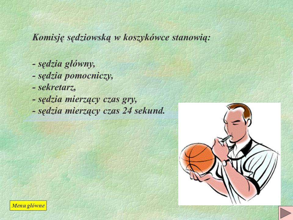 Komisję sędziowską w koszykówce stanowią: