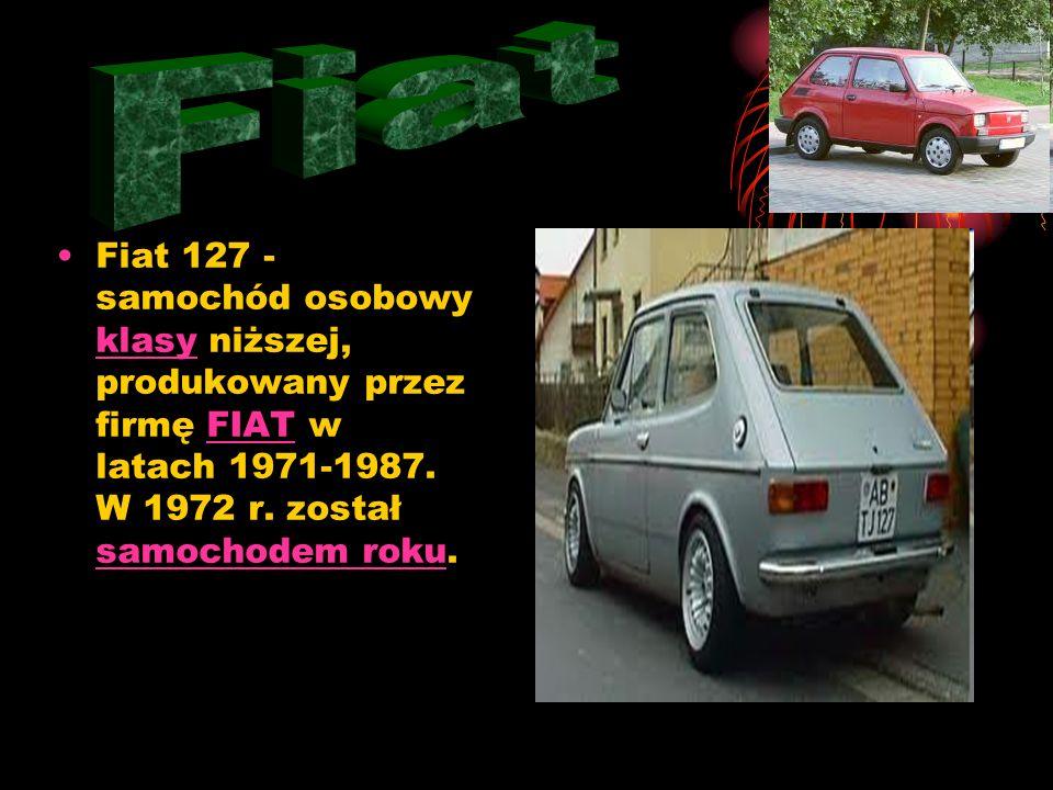 Fiat Fiat 127 - samochód osobowy klasy niższej, produkowany przez firmę FIAT w latach 1971-1987.