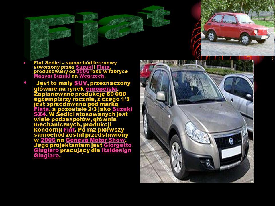 Fiat Fiat Sedici – samochód terenowy stworzony przez Suzuki i Fiata, produkowany od 2006 roku w fabryce Magyar Suzuki na Węgrzech.