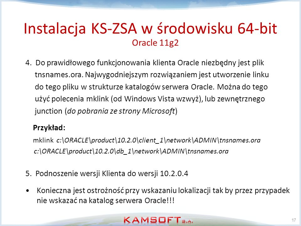 Instalacja KS-ZSA w środowisku 64-bit
