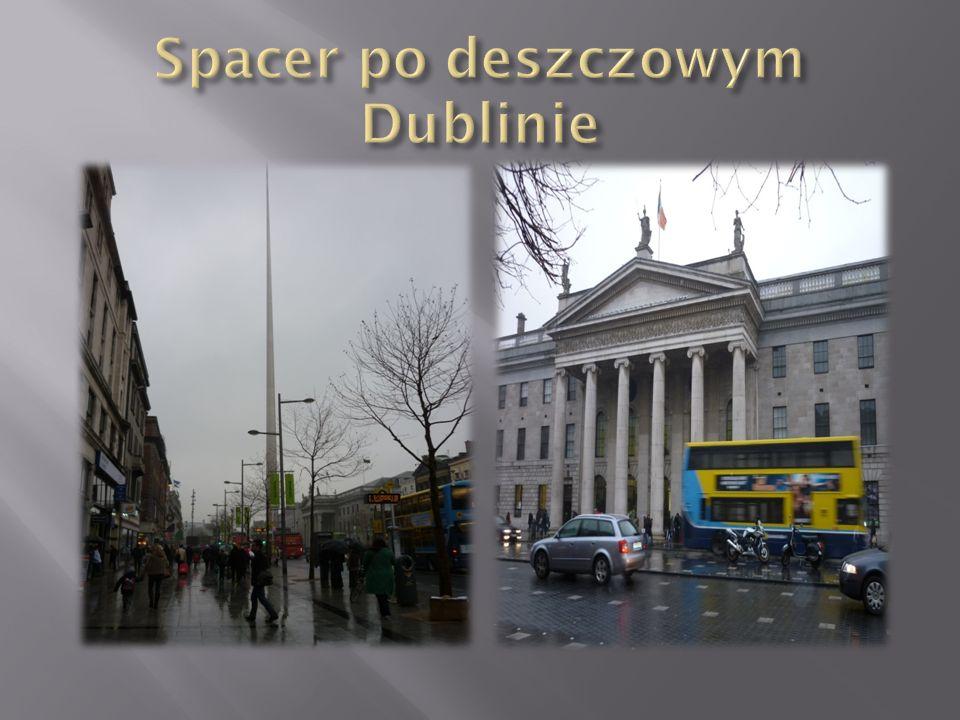 Spacer po deszczowym Dublinie