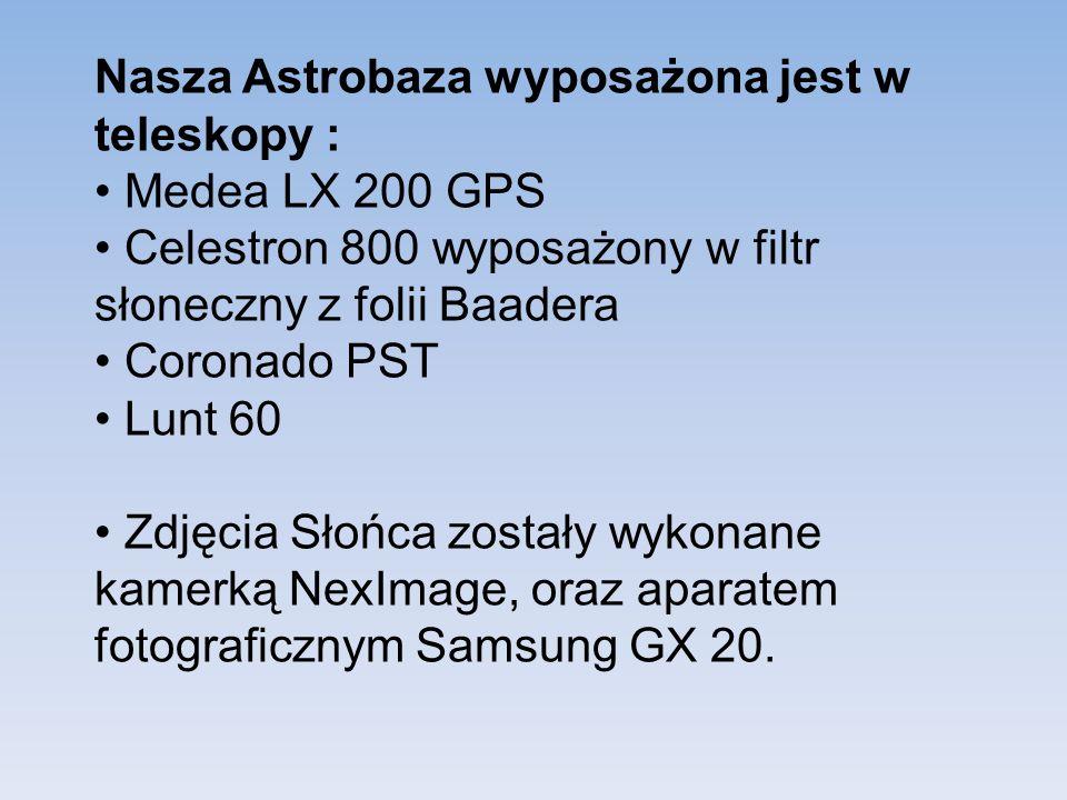 Nasza Astrobaza wyposażona jest w teleskopy :