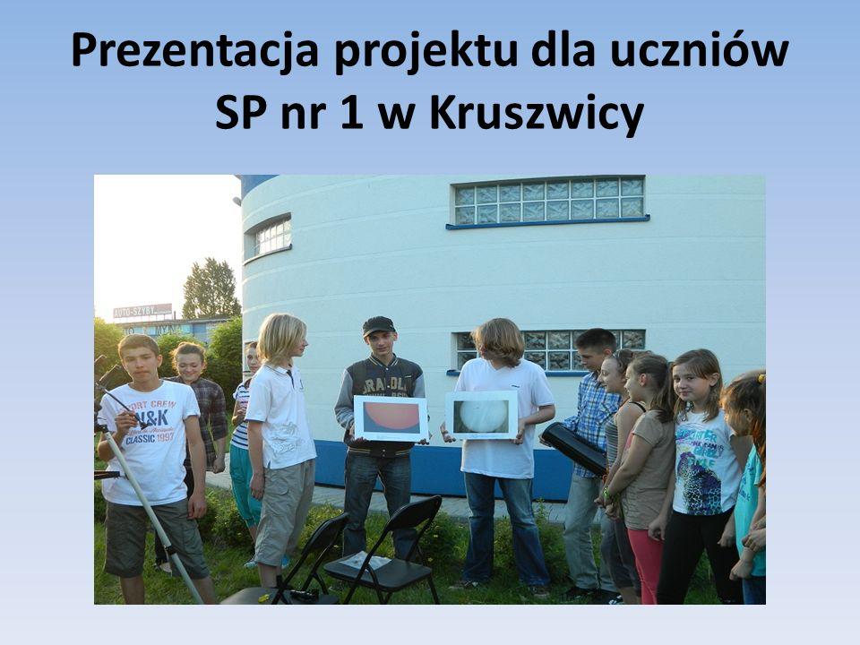 Prezentacja projektu dla uczniów SP nr 1 w Kruszwicy