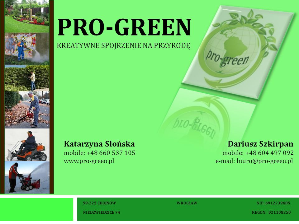 pro-green kreatywne spojrzenie na przyrodę