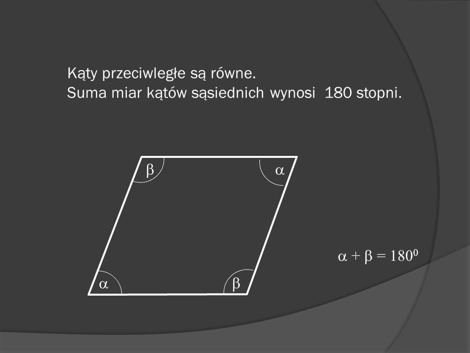 Kąty przeciwległe są równe