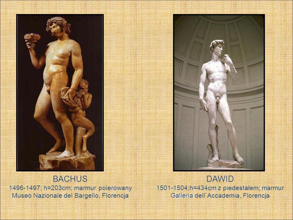 BACHUS DAWID 1496-1497; h=203cm; marmur polerowany
