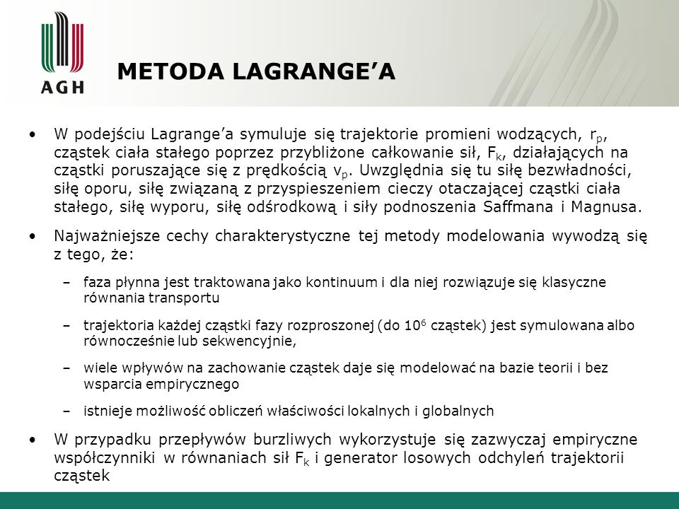 METODA LAGRANGE'A