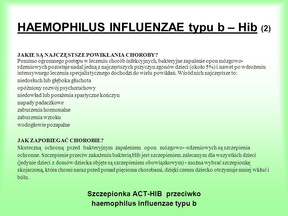 HAEMOPHILUS INFLUENZAE typu b – Hib (2)