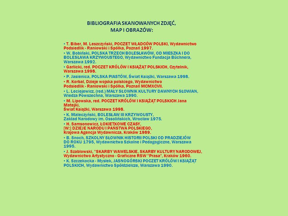 BIBLIOGRAFIA SKANOWANYCH ZDJĘĆ, MAP I OBRAZÓW: