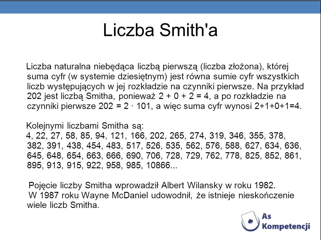 Liczba Smith a