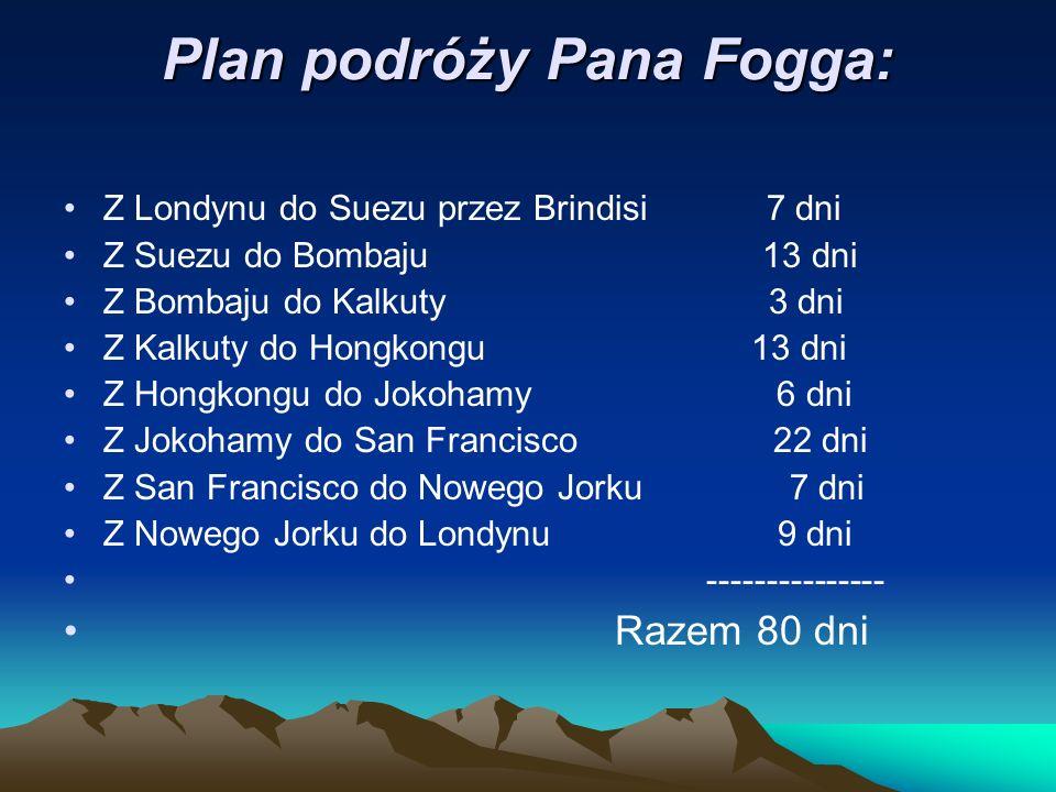 Plan podróży Pana Fogga: