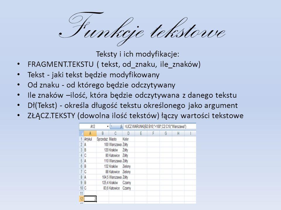 Teksty i ich modyfikacje: